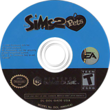 The Sims 2:Pets GameCube disc (G4OE69)