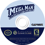 Mega Man Anniversary Collection GameCube disc (G6QE08)
