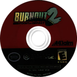Burnout 2: Point of Impact GameCube disc (GB4E51)
