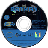 Batman: Dark Tomorrow GameCube disc (GBME7F)