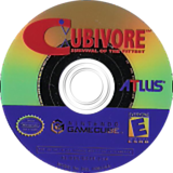 Cubivore: Survival of the Fittest GameCube disc (GCVEEB)