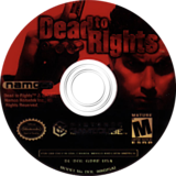 Dead to Rights GameCube disc (GDREAF)