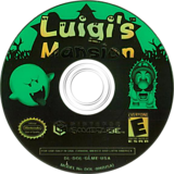 Luigi's Mansion GameCube disc (GLME01)