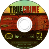 True Crime: Streets of LA GameCube disc (GTLE52)