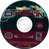Need for Speed: Carbon GameCube disc (GW5E69)