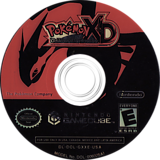 Pokémon XD: Gale of Darkness GameCube disc (GXXE01)