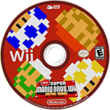 New Super Mario Bros. Wii Retro Remix CUSTOM disc (MRRE01)