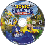 Sonic & SEGA All-Stars Racing Wii disc (R3RE8P)