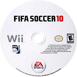 FIFA Soccer 10 Wii disc (R4RE69)