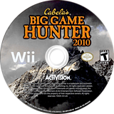 Cabela's Big Game Hunter 2010 Wii disc (R8YE52)