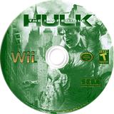 The Incredible Hulk Wii disc (RIHE8P)