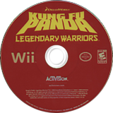 Kung Fu Panda: Legendary Warriors Wii disc (RKHE52)
