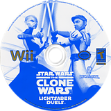 Star Wars The Clone Wars: Lightsaber Duels Wii disc (RLFE64)