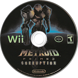 Metroid Prime 3: Corruption Wii disc (RM3E01)