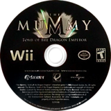 The Mummy: Tomb of the Dragon Emperor Wii disc (RM5E7D)