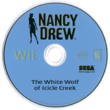 Nancy Drew: The White Wolf of Icicle Creek Wii disc (RNUE8P)