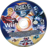 Hot Wheels: Battle Force 5 Wii disc (RO5E52)