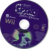 Legend of Spyro: Dawn of the Dragon Wii disc (RO8E7D)