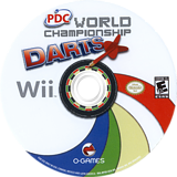 PDC World Championship Darts 2008 Wii disc (RPDEGN)