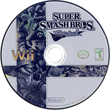 Super Smash Bros. Brawl Wii disc (RSBE01)