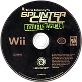 Tom Clancy's Splinter Cell: Double Agent Wii disc (RTCE41)