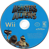 Monsters vs. Aliens Wii disc (RVZE52)