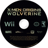 X-Men Origins: Wolverine Wii disc (RWUE52)