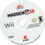 Madden NFL 13 Wii disc (S2ME69)