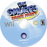 The Smurfs Dance Party Wii disc (SDUE41)