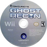 Tom Clancy's Ghost Recon Wii disc (SGHE41)
