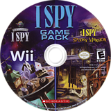 I SPY Game Pack Wii disc (SIPE7T)