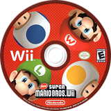 New Super Mario Bros. Wii Wii disc (SMNE01)