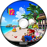 New Super Mario Bros Wii 12 Sunshine Paradise CUSTOM disc (SMSE01)