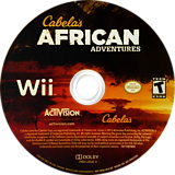 Cabela's African Adventures Wii disc (SQAE52)