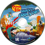 Phineas and Ferb: Quest for Cool Stuff Wii disc (SQFE5G)