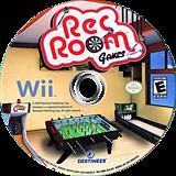 Rec Room Games Wii disc (SRRENR)