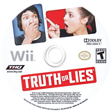 Truth or Lies Wii disc (STLE78)