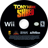 Tony Hawk: Shred Wii disc (STYE52)
