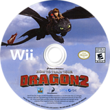 How to Train Your Dragon 2 Wii disc (SVZEVZ)