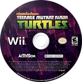 Teenage Mutant Ninja Turtles Wii disc (SX7E52)