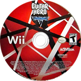 Guitar Hero: Van Halen Wii disc (SXDE52)