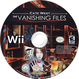 Cate West: The Vanishing Files Wii disc (RKEENR)