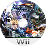 Soulcalibur Legends Wii disc (RSLPAF)