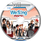 We Sing Rock! Wii disc (SQRPNG)