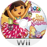 Dora Saves the Crystal Kingdom Wii disc (R27X54)
