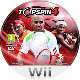 Top Spin 4 Wii disc (R28P54)