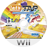 Let's Tap Wii disc (R2UP8P)