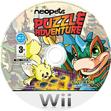 Neopets Puzzle Adventure Wii disc (R52P08)