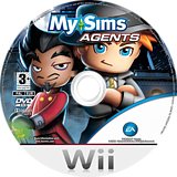MySims Agents Wii disc (R5XP69)