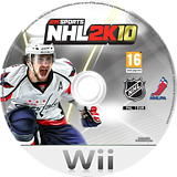 NHL 2K10 Wii disc (R7OP54)